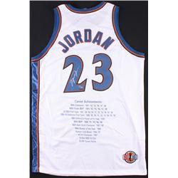 Michael Jordan Signed LE Wizards Career Highlight Stats Jersey (UDA COA)