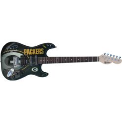 """Aaron Rodgers Signed LE Packers Electric Guitar Inscribed """"XLV MVP"""" (Steiner Hologram)"""