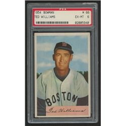 1954 Bowman #66A Ted Williams (PSA 6)