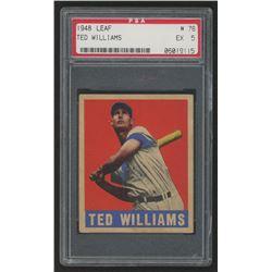 1948 Leaf #76 Ted Williams (PSA 5)