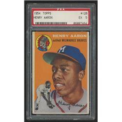 1954 Topps #128 Hank Aaron RC (PSA 5)