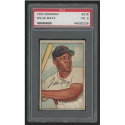 1952 Bowman #218 Willie Mays (PSA 3)