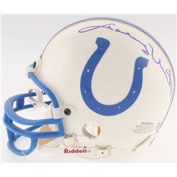 Johnny Unitas Signed Colts Mini-Helmet (Beckett Hologram)