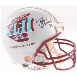 Michael Strahan Signed Super Bowl XLII Full-Size Authentic On-Field Helmet (JSA Hologram)
