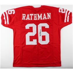 Tom Rathman Signed Nebraska Cornhuskers Jersey (JSA COA)