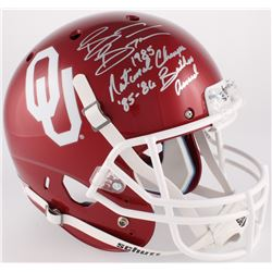 """Brian Bosworth Signed Oklahoma Sooners Full-Size Helmet Inscribed """"1985 National Champs""""  """"85-86 But"""