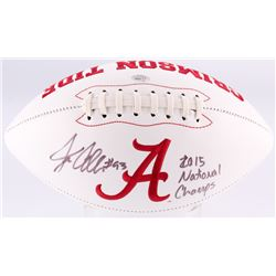 "Jonathan Allen Signed Alabama Crimson Tide Logo Football Inscribed ""2015 National Champs"" (SGC COA)"