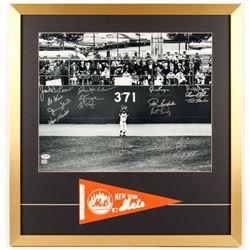 1969 New York Mets 26x27 Custom Framed Photo Team-Signed by (16) with Nolan Ryan, Jim McAndrew, Ron