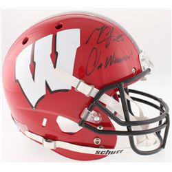 "Melvin Gordon Signed Wisconsin Badgers Full-Size Helmet Inscribed ""On Wisconsin!"" (Radtke COA)"