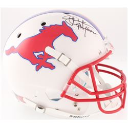 """Eric Dickerson Signed SMU Mustangs Full-Size Helmet Inscribed """"Pony Express"""" (Beckett COA)"""
