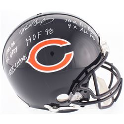 Mike Singletary Signed Bears Full-Size On-Field Helmet with (5) Inscriptions (Beckett COA)