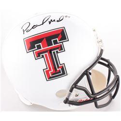 Patrick Mahomes Signed Texas Tech Red Raiders Full-Size Helmet (JSA COA)