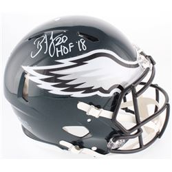 "Brian Dawkins Signed Eagles Full-Size On-Field Speed Helmet Inscribed ""HOF '18"" (JSA COA)"