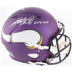 "Adrian Peterson Signed Vikings Full-Size On-Field Speed Helmet Inscribed ""2012 MVP"" (JSA COA)"