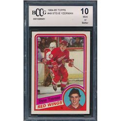 1984-85 Topps #49 Steve Yzerman RC (BCCG 10)