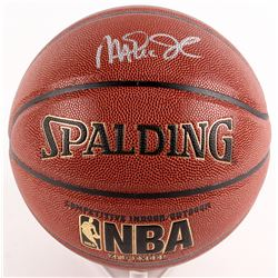 Magic Johnson Signed Basketball (Schwartz COA)