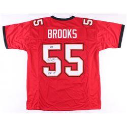 """Derrick Brooks Signed Buccaneers Jersey Inscribed """"HOF 14"""" (Radtke COA)"""