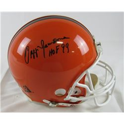 """Ozzie Newsome Signed Browns Authentic On-Field Full-Size Helmet Inscribed """"HOF 99"""" (JSA Hologram)"""
