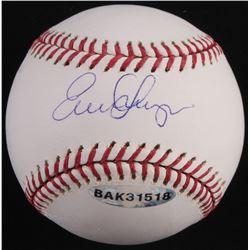 Evan Longoria Signed OML Baseball (UDA COA, Longoria Hologram  MLB Hologram)