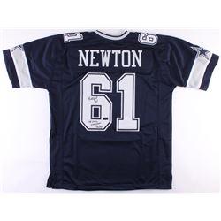 "Nate Newton Signed Cowboys Jersey Inscribed ""SB XXVII, XXVIII, XXX Champs"" (JSA  Radtke COA)"