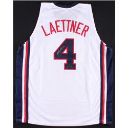 "Christian Laettner Signed Team USA ""Dream Team"" Jersey (Radtke COA)"