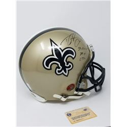 "Drew Brees Signed LE Saints Full-Size Authentic On-Field Helmet Inscribed ""SB XLIV MVP"", ""288 Yds"""
