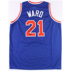 "Charlie Ward Signed Knicks Jersey Inscribed ""Only NBA Heisman"" (Radtke COA)"