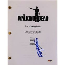 "Jeffrey Dean Morgan Signed ""The Walking Dead"" Full Episode Script (PSA COA)"