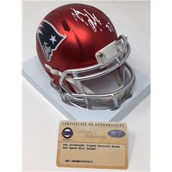 Rob Gronkowski Signed Patriots Blaze Speed Mini Helmet (Steiner COA)