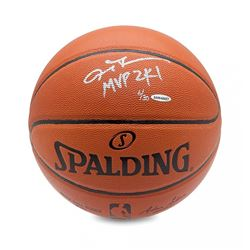 "Allen Iverson Signed LE Basketball Inscribed ""MVP 2K1"" (UDA COA)"