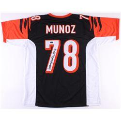 "Anthony Munoz Signed Bengals Jersey Inscribed ""HOF 98"" (Radtke COA)"