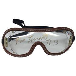 """Ron Turcotte Signed Jockey Goggles Inscribed """"TC 73"""" (Beckett COA)"""