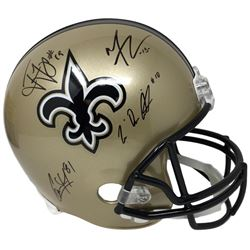 2018 Saints Full-Size Helmet Signed by (4) with Michael Thomas, Ted Ginn Jr., Tre'Quan Smith  Camero