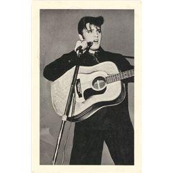 Elvis Presley Signed 3.5x5.5 Postcard With Inscription (Beckett LOA)