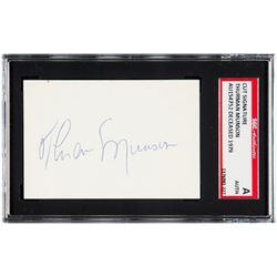 Thurman Munson Signed Cut (SGC Encapsulated)