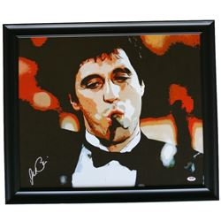 "Al Pacino Signed ""Scarface"" 22"" x 25"" Custom Framed Canvas Display (PSA Hologram)"