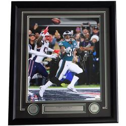 Corey Clement Signed Eagles 22x27 Custom Framed Photo Display (JSA COA)