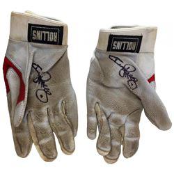 Jimmy Rollins Signed Game-Used Nike Batting Gloves (Beckett COA  Celebz Direct LOA)