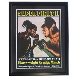 "Joe Frazier vs Muhammad Ali ""Super Fight II"" 24x30 Custom Framed Poster Display"