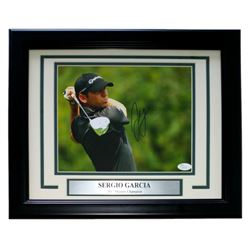 Sergio Garcia Signed PGA 14x16 Custom Framed Photo Display (JSA COA)