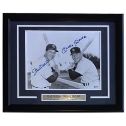 Mickey Mantle  Stan Musial Signed 16x20 Custom Framed Photo Display (Beckett LOA)