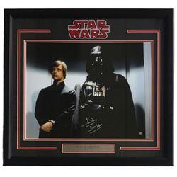 "Dave Prowse Signed ""Star Wars"" 22x27 Custom Framed Photo Display Inscribed ""Darth Vader"" (Steiner CO"