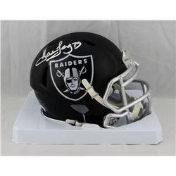 Howie Long Signed Raiders Blaze Speed Mini Helmet (JSA COA)