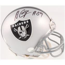 Amari Cooper Signed Raiders Mini Helmet (JSA COA)