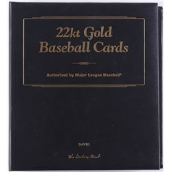 Complete Set of (50) Danbury Mint 22kt Gold Baseball Cards with Folder
