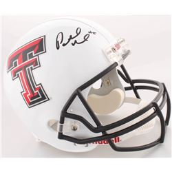 Patrick Mahomes Signed Texas Tech Red Raiders Full-Size Helmet (JSA COA)