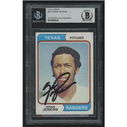 Fergie Jenkins Signed 1974 Topps #87 (Beckett Encapsulated)