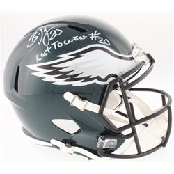 "Brian Dawkins Signed Eagles Full-Size Speed Helmet Inscribed ""Last To Wear #20"" (JSA COA)"