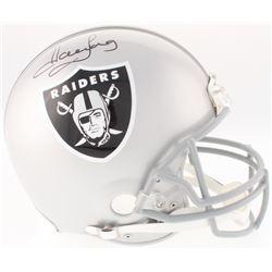 Marcus Allen Signed Raiders Full-Size Authentic On-Field Helmet (JSA COA)