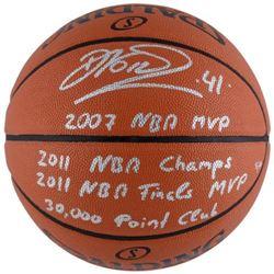 Dirk Nowitzki Signed LE Basketball With Multiple Inscriptions (Fanatics Hologram)